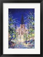 Framed Fantasy St Louis Cathedral