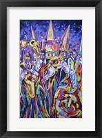 Framed Jackson Square Jammin Jazz