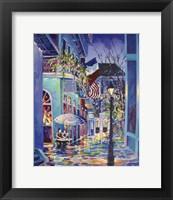 Framed Pirates Alley Cafe Patriotic