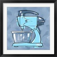 Framed Blue On Blue Mixer