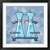 Framed Blue On Blue Salt And Pepper