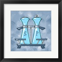 Framed Blue On Blue Salt And Pepper