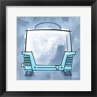 Framed Blue On Blue Toaster