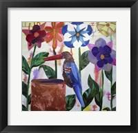 Framed Kingfisher of Flowers