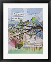 Framed Bird of happiness