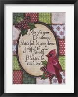 Framed Christmas Cardinal