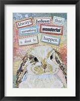 Framed E Bunny