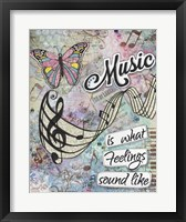 Framed Musical Feelings