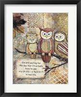 Framed Wise Owls