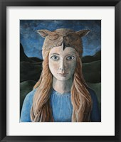 Framed Owl Girl