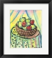 Framed Basket of Apples
