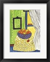 Framed Bowl of Oranges and Lemons