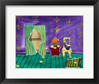Framed Lemon Strewn Purple Room