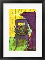 Framed Purple Curtains and Chair