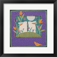Framed Two Rabbits