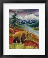 Framed Autumn Grizzly