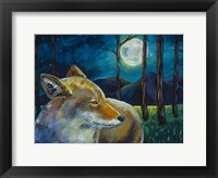 Framed Coyote Moon
