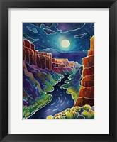 Framed Moonlit Canyon