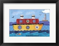 Framed Boat Collage