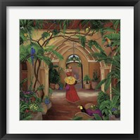 Framed Columbian Fruit Woman