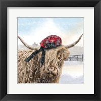 Framed Highland Cow 2