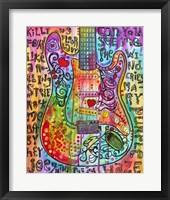 Framed Jimmies Guitar
