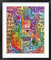 Framed Jimmies Guitar