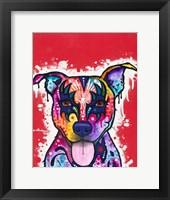 Framed Kiss Dog