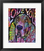 Framed Love You Basset