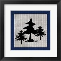 Blue Bear Lodge Icon 1 Framed Print