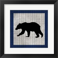 Blue Bear Lodge Icon 2 Framed Print