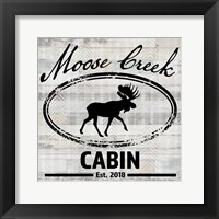 Blue Bear Lodge Sign 7 Framed Print