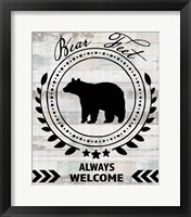 Blue Bear Lodge Sign 9 Framed Print