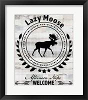 Blue Bear Lodge Sign 1 Framed Print