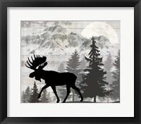 Blue Bear Lodge Sign 11 Framed Print