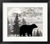 Blue Bear Lodge Sign 12 Framed Print
