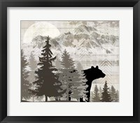 Blue Bear Lodge Sign 14 Framed Print