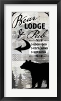 Framed Blue Bear Lodge Sign 19