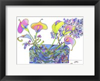 Framed Calla Lilly And Hydrangea Hallucination