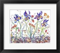 Framed Cooper-Whimsical Flowers