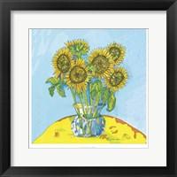 Framed Sunflowers For Matisse