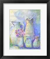 Framed Homage To Morandi With Flowers
