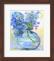 Framed Hydrangea In Fish Bowl