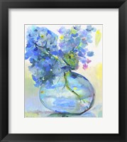 Framed Hydrangea In Fish Bowl