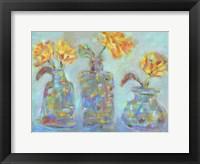 Framed Nina's Three Bud Vases
