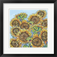 Framed Sunflowers Upclose
