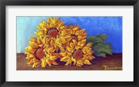 Framed Sunflowers of Fall