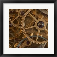 Framed Copper Cogs Close up 1