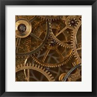 Framed Copper Cogs Close up 2