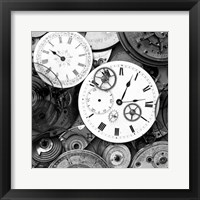 Framed Pieces of Old Watch BW